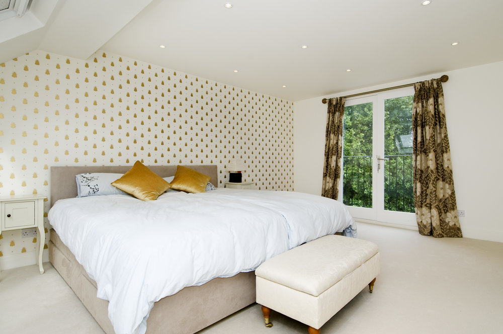 Mater Bedroom in Loft conversion, London, W4, The Kitchen and Loft Company.