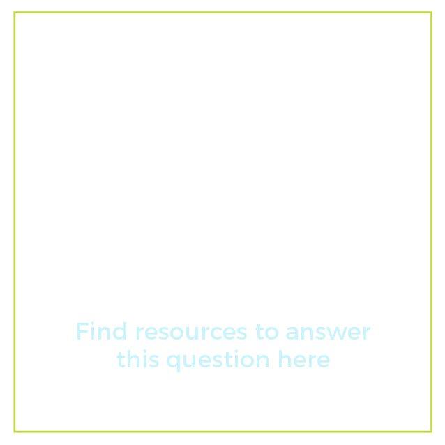 "Graphic of a presentation board with text below it that says ""What support and training is available to me? Find resources to answer this question here"""