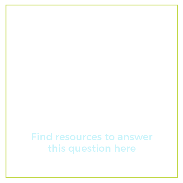 """Graphic of a question mark with text below it that says """"What are some options for reasonable accommodations? Find resources to answer this question here"""""""