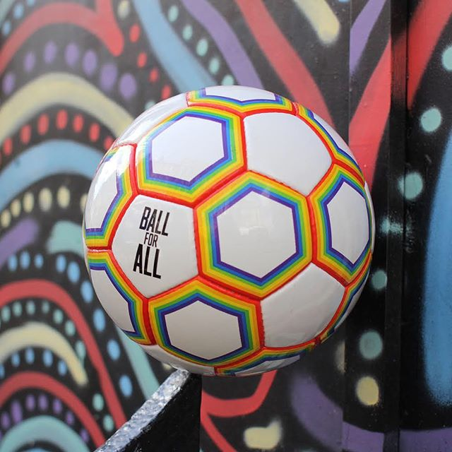 The beautiful game is for everyone, no matter who you love. Let's show the world that football is a game of acceptance, openness and inclusivity. Show your support for LGBTQ+ players and buy the Ball for All. ⚽️🏳️🌈 Link in bio ☝️ #ballforall #pride #worldcup