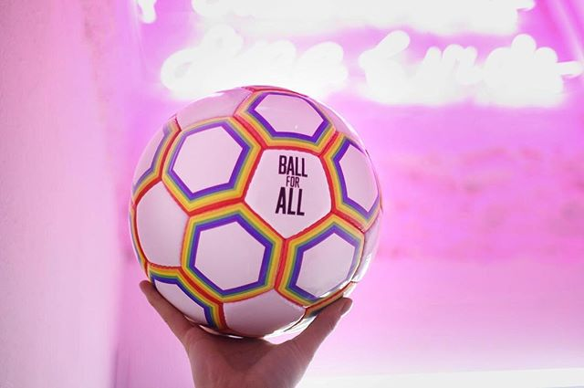 With World Cup Final and Pride celebrations happening this weekend, show you're proud to support the fight against homophobia in football through buying the Ball for All ⚽️🏳️‍🌈 Link in bio ☝️ #ballforall #pride #worldcup2018 #bristolpride #worldcupfinal