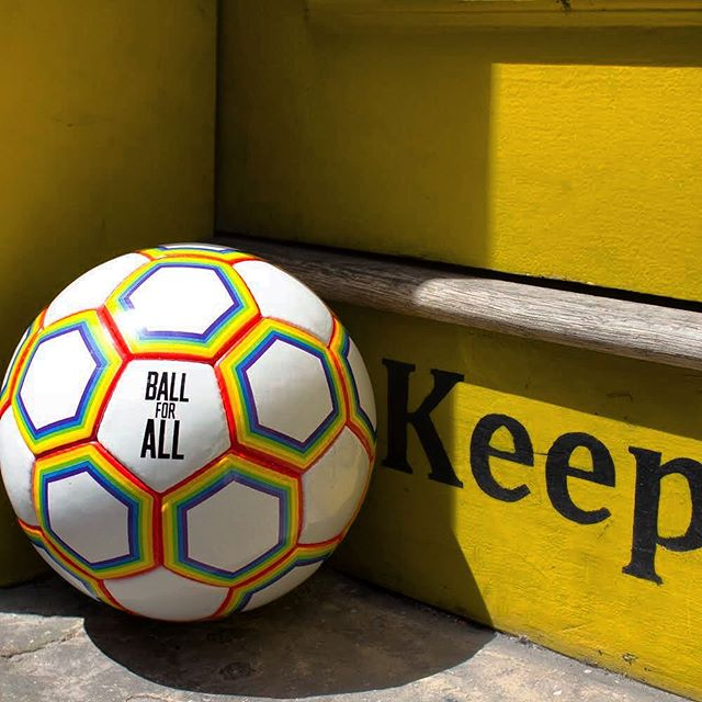 And just like that, the World Cup is over... but the Ball for All can be enjoyed all year round! Get your hands on the perfect ball for those summer evening kickabouts, and support LGBTQ+ charities. ⚽️ 🏳️‍🌈Link in bio 👆 #ballforall #pride #worldcup #lgbtq