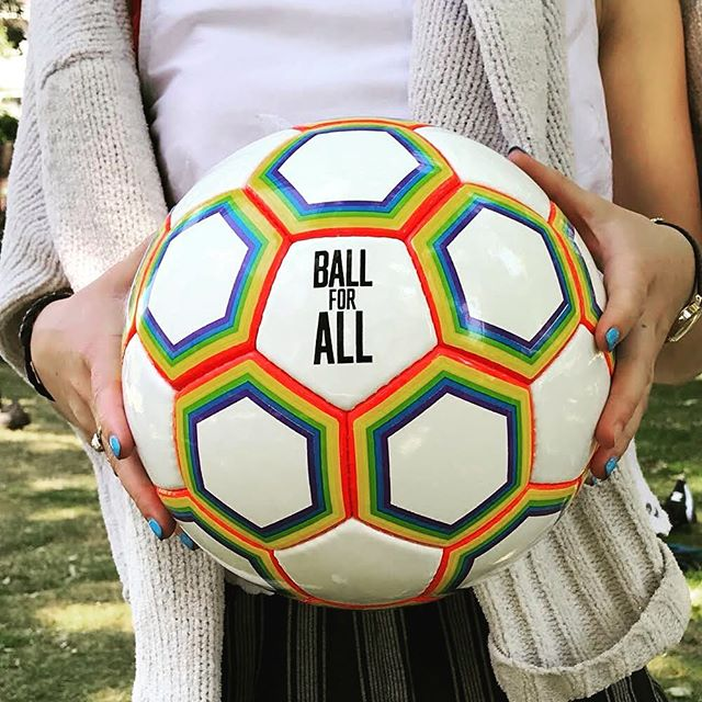 Fancy a new football to celebrate the start of the Premier League?! Treat yourself to a Ball for All and show your support for LGBTQ+ players around the world 🌍 🏳️‍🌈 link in bio👆🏽 #ballforall #pride #lgbtq #football #premierleague