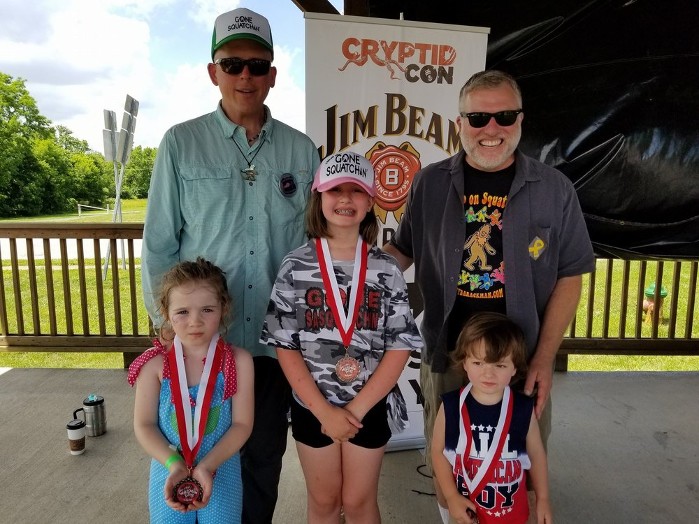 Cliff and Bobo with the winners of the 2018 Wildman Calling Contest Kid's Division