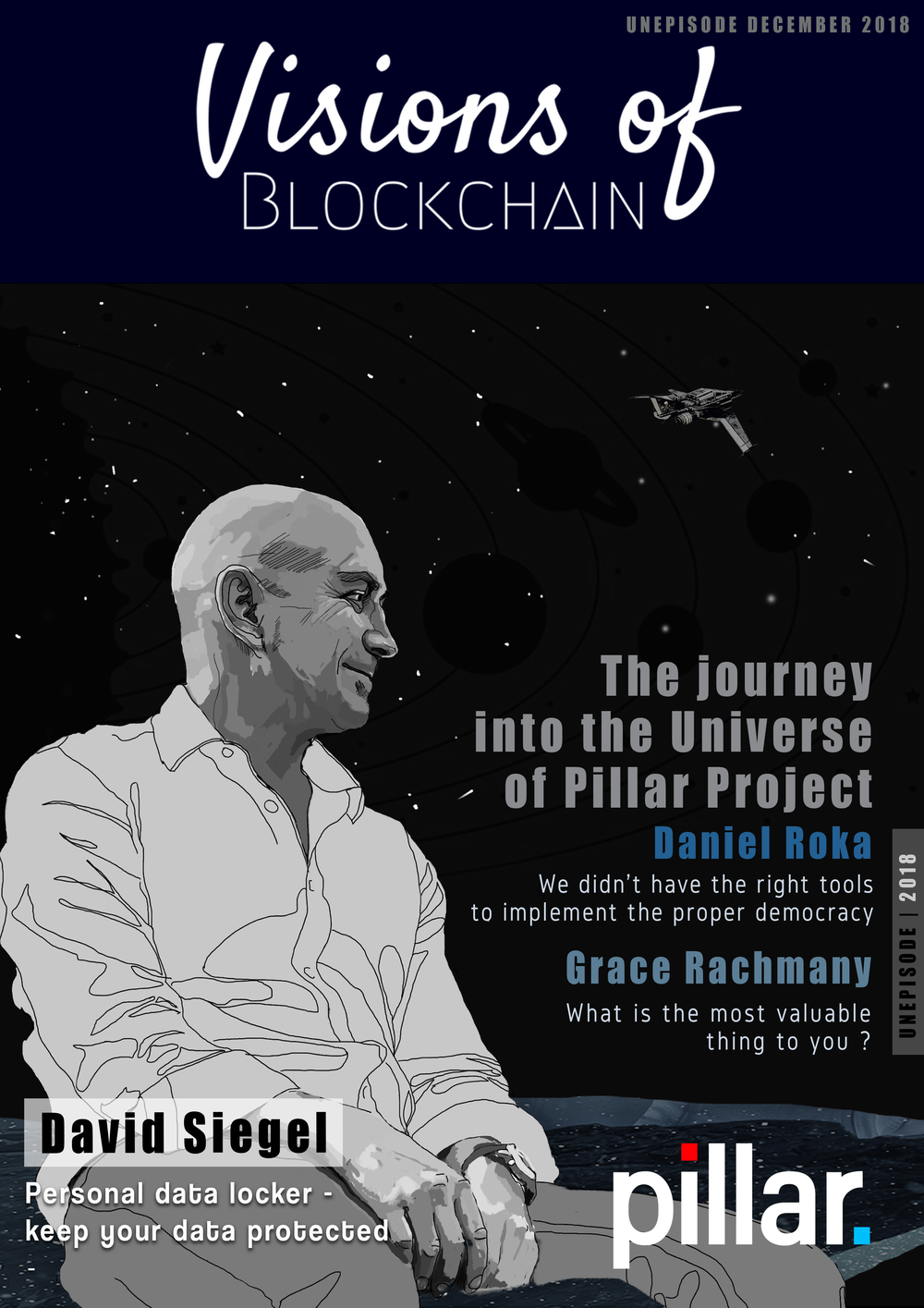 Visions of Blockchain Magazine - Pillar Unepisode Cover