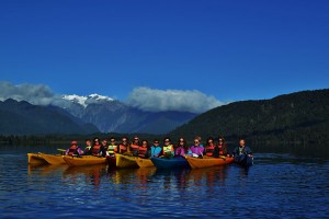 Chris Shu kayaking in New Zealand