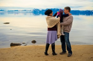 Freedman and family at Lake Tahoe (Photo credit:Zoila Albarinia)