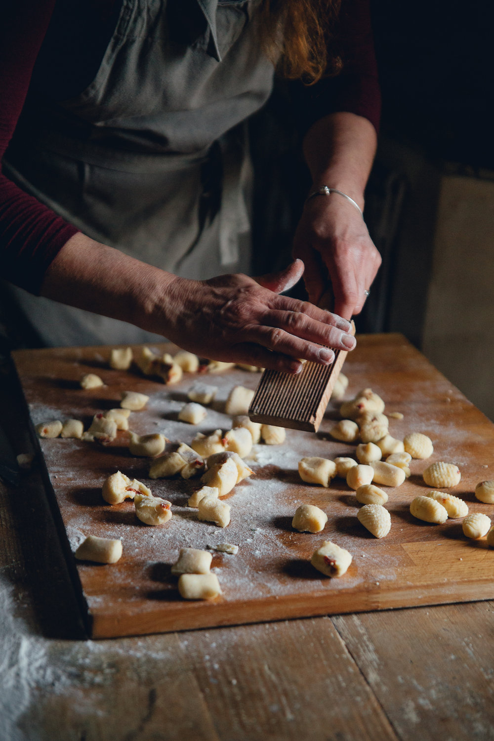 Gnocchi In The Making at La Quercia Estate, Italy, February 2017