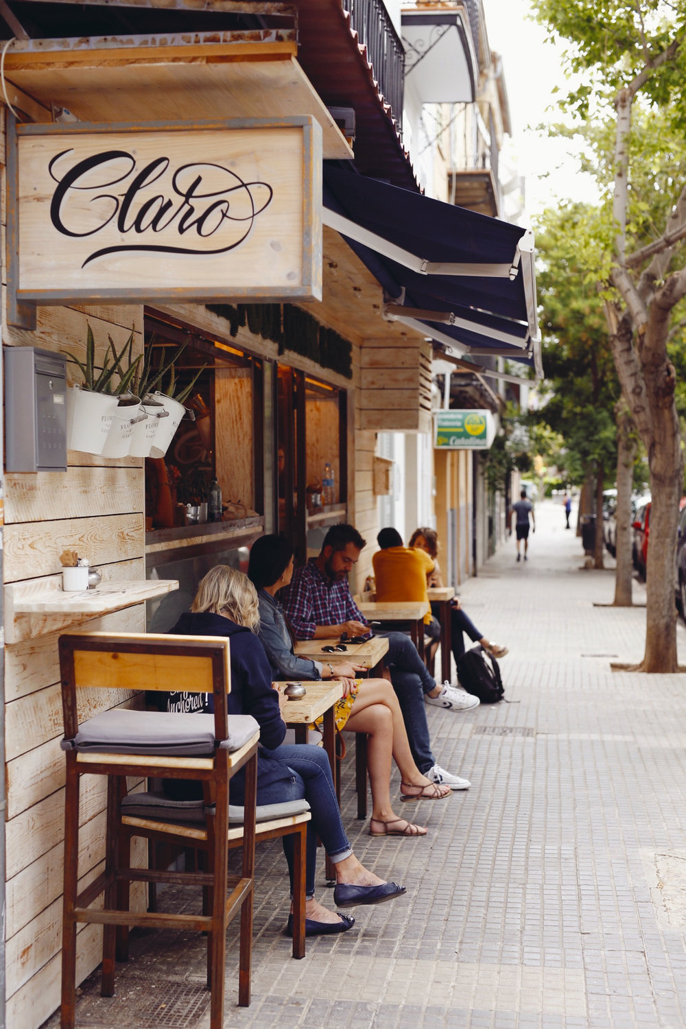 Café Claro in Palma, Mallorca, June 2018
