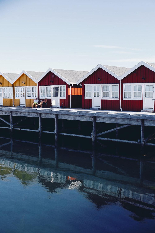 Rorbuer at Kjerringøy, Norway, July 2018