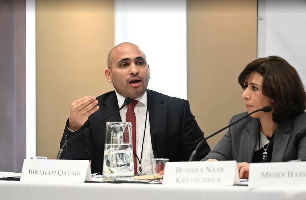 Ibraham Qatabi speaking.JPG