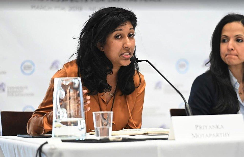 Priyanka Motaparthy speaking.JPG