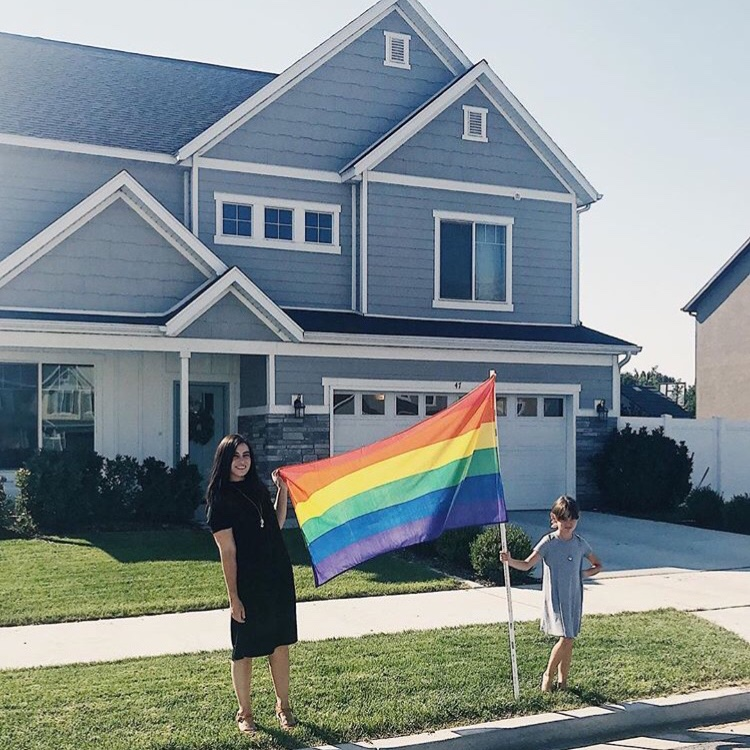 Thank you Provo - For the week of Provo Pride 50 residents and businesses proudly displayed rainbow flags raising over $600 for Provo Pride!