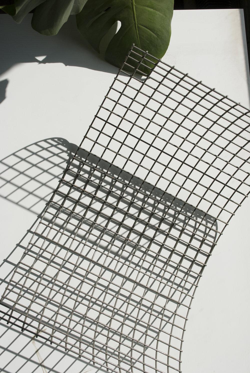 Pliage grille en acier // Pièce d'une table basse