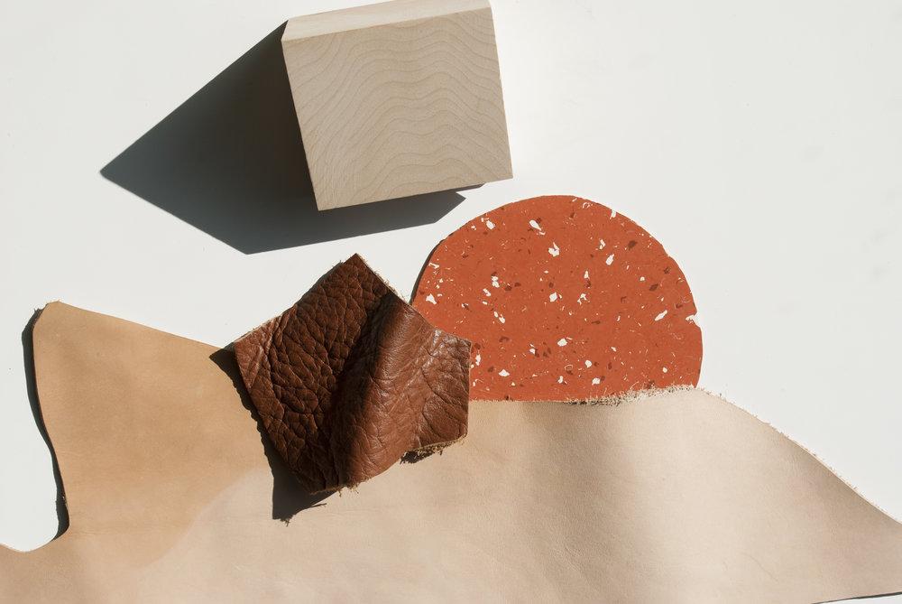 Concept de couleurs et matériaux