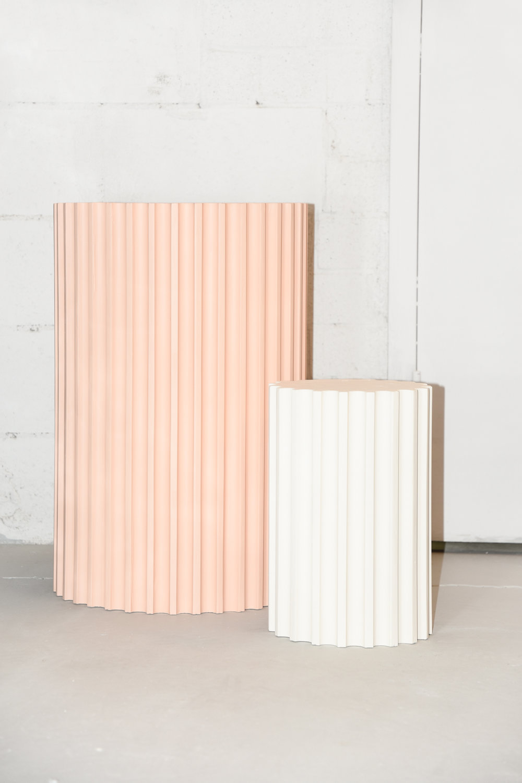 Plâtre et bois // Piédestaux