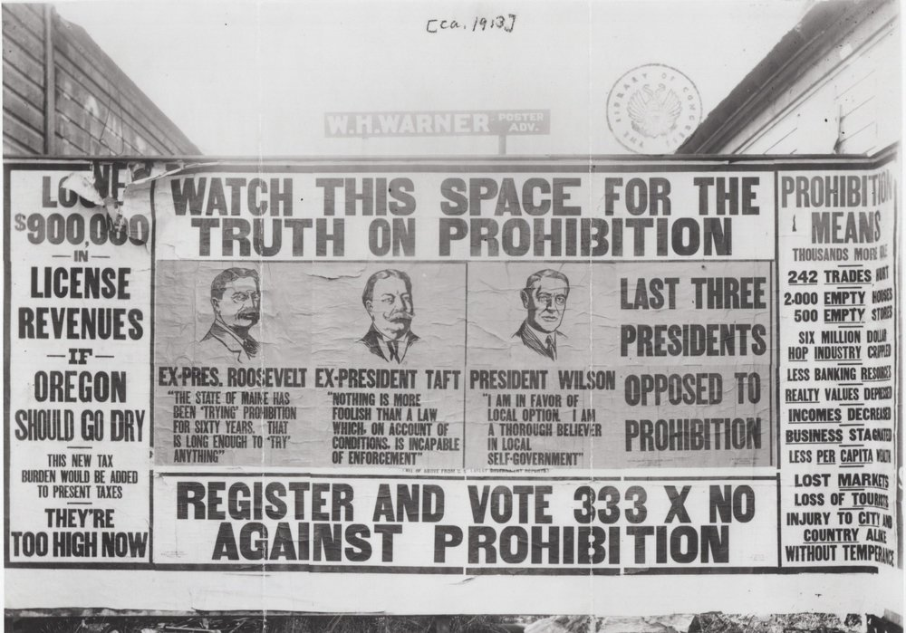 Billboard against prohibition