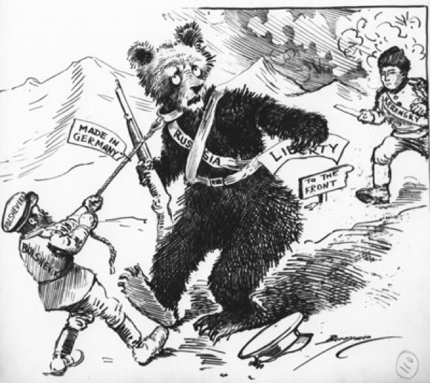 Bolshevik Leads Russian Bear