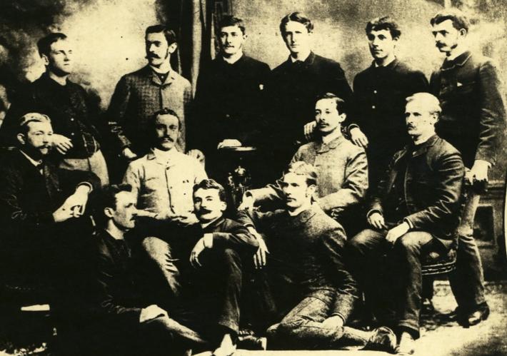 At Johns Hopkins in 1884