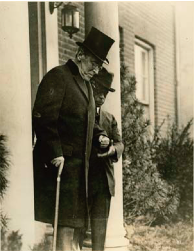 President Wilson leaving to attend the Armistice Day Parade in 1921