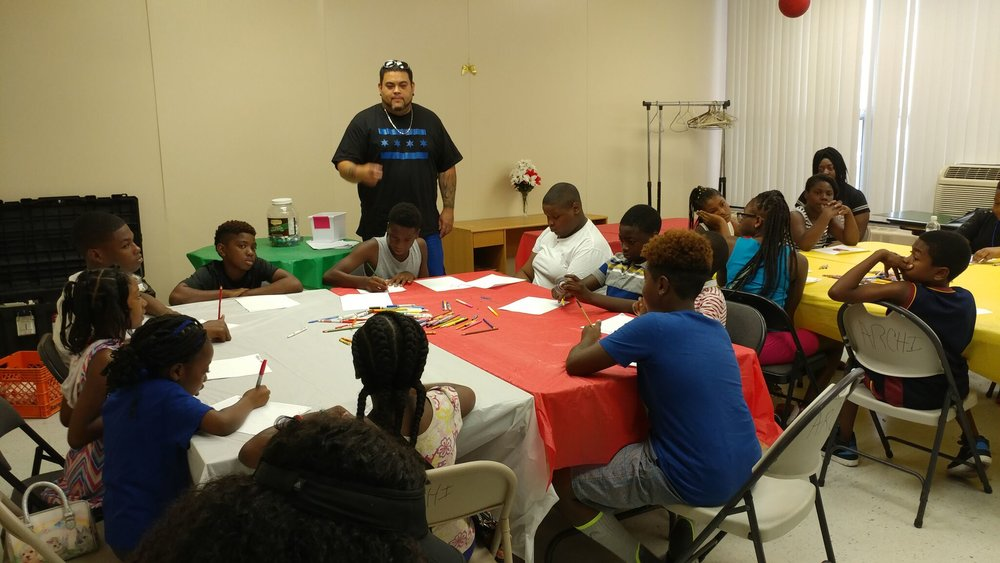 Mural Workshop at Lake Grove Village Apartments