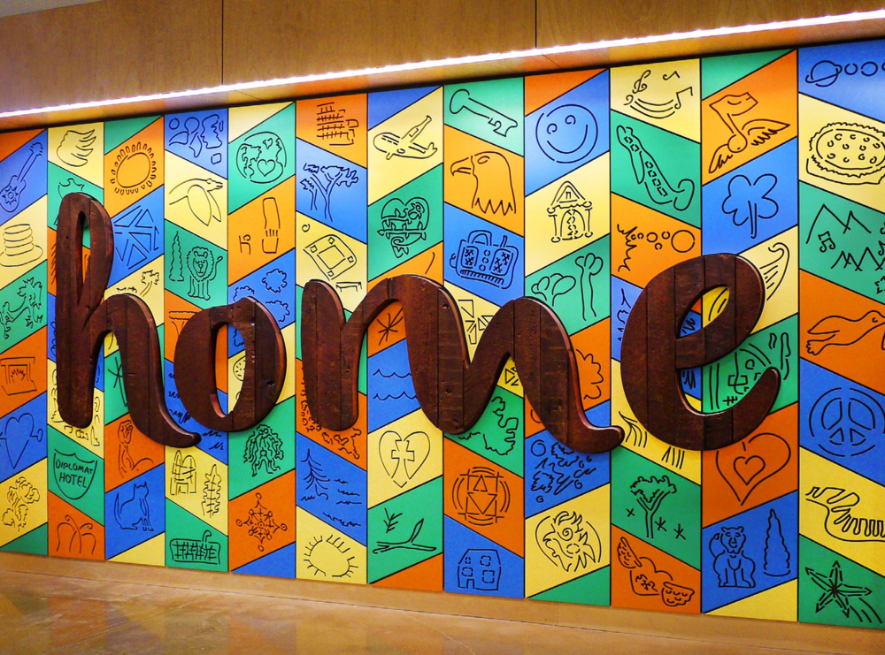 """Home"" Mural Buffet Place, 2012"