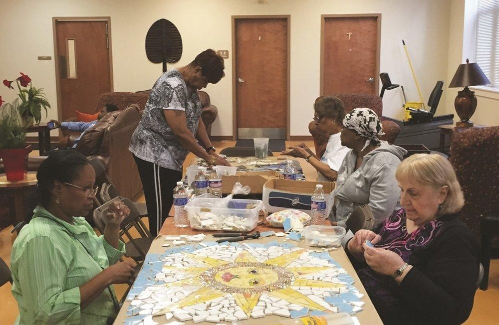 Senior Mosaic Art Class, 2014