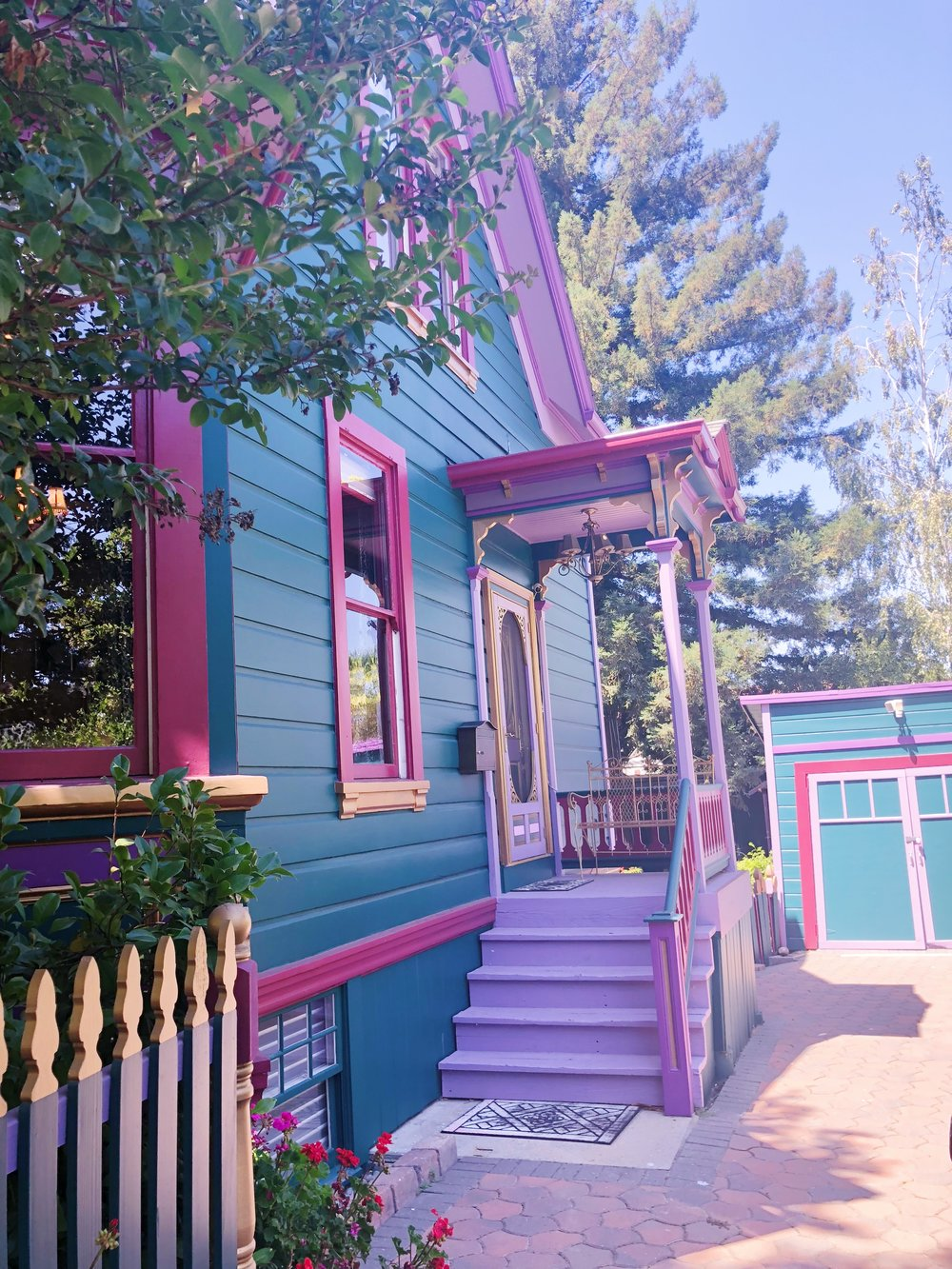 Los Gatos Victorian House Side Door.JPG