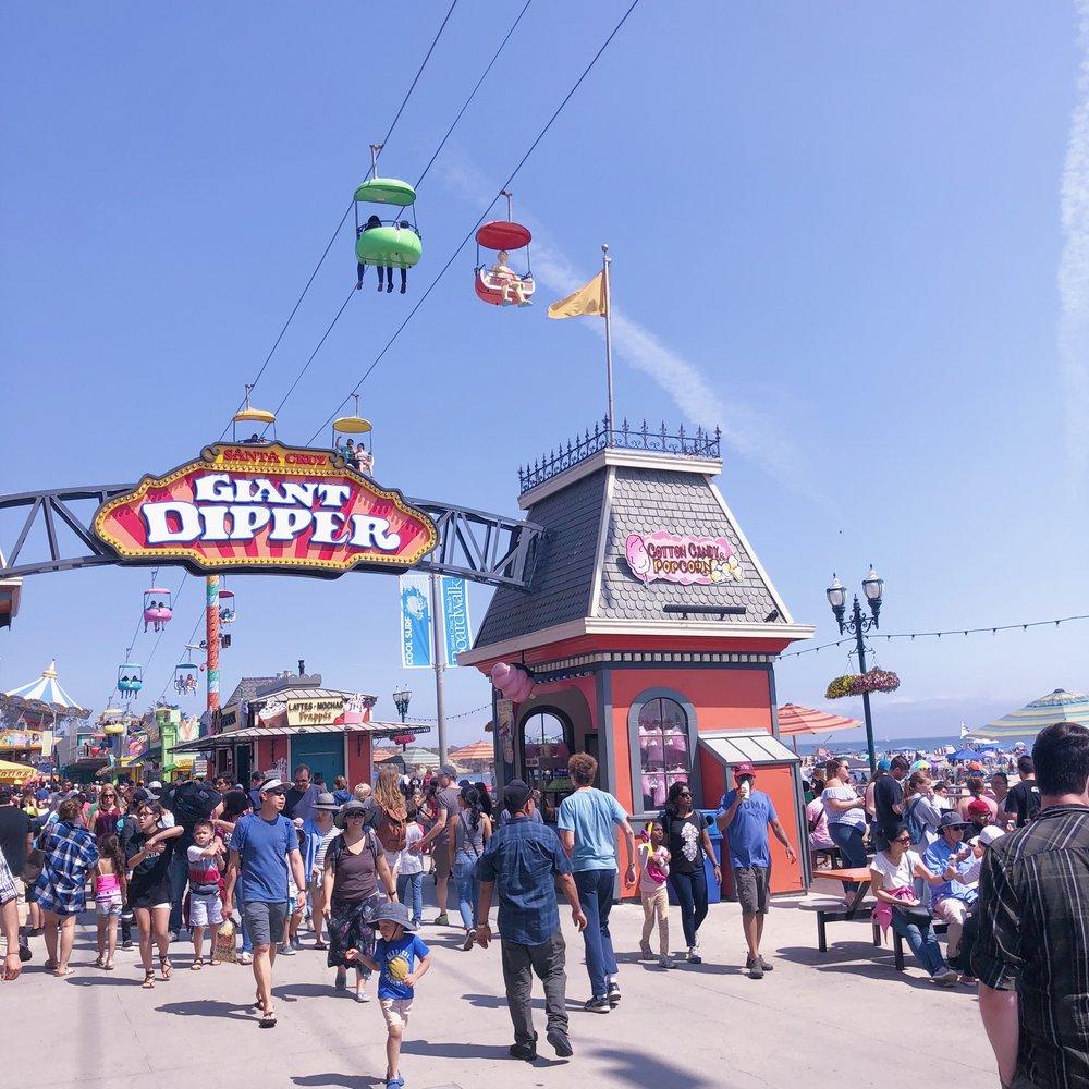Santa Cruz Beach Boardwalk Giant Dipper
