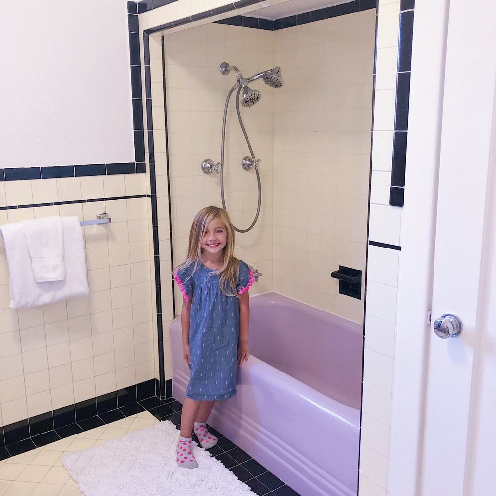 1930s lilac bathroom palo alto