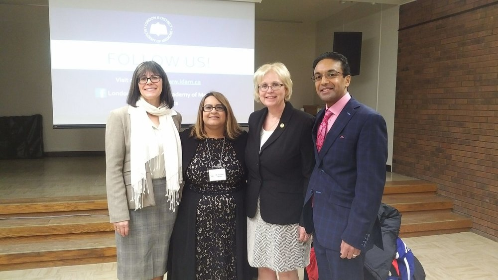 Peggy Sattler, Teresa Armstrong, Jeff Yurek, Sharad and Rashmi at Patient Healthcare Forum - April 12 2018_preview.jpeg