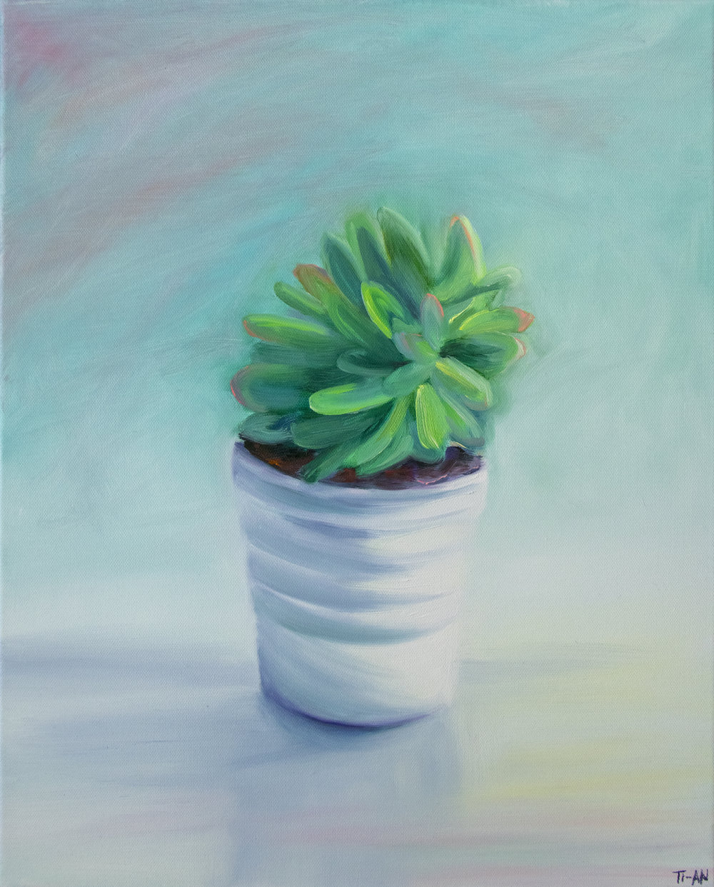 The Succulent by the Window   16x20, oil on canvas  2018