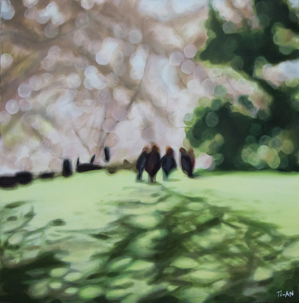 High Park   30x30, oil on canvas  2012