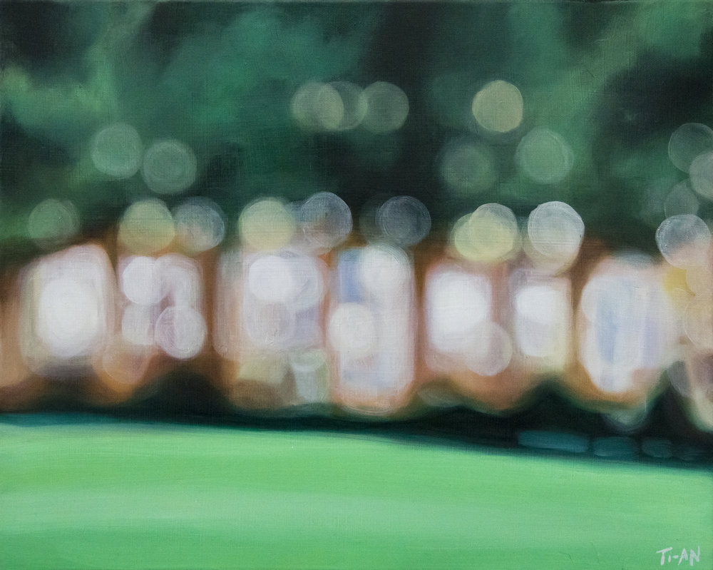 Bryant Park III   16x20, oil on canvas  2012