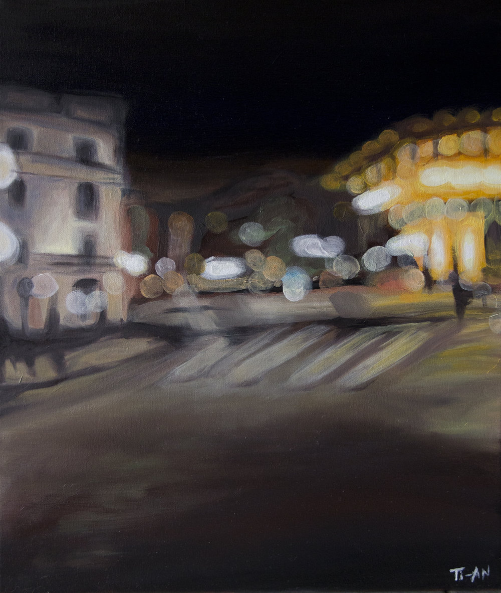 Place André Malraux   16x20, oil on canvas  2012
