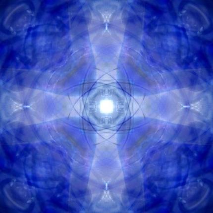 "Blue Glass (10""x10"")"