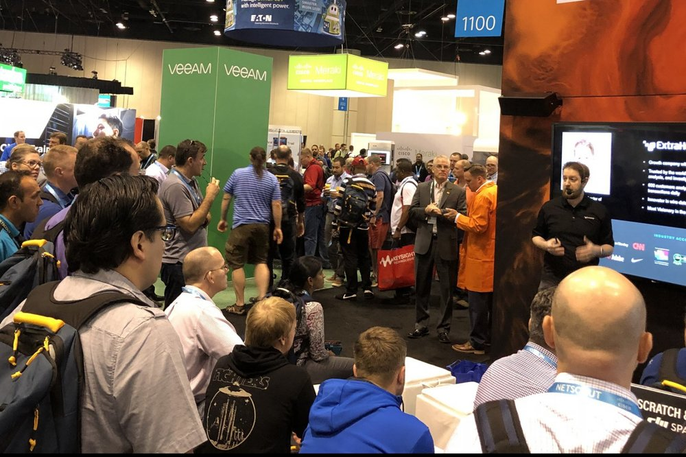 Speaking to a big crowd at Cisco Live 2018 in Orlando, Florida (June 2018)