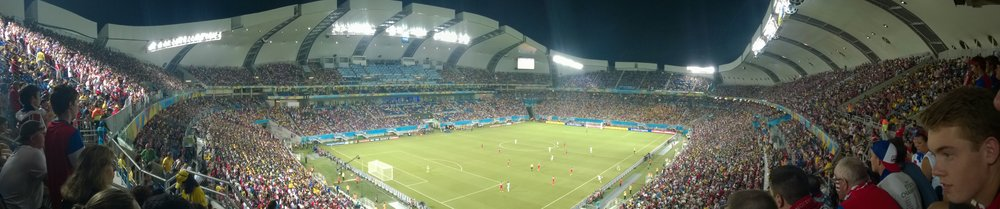 Arena das Dunas is rocking during USAvGHA