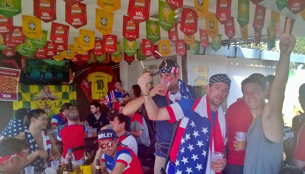 Supporters at Bar Near Arena Amazonia