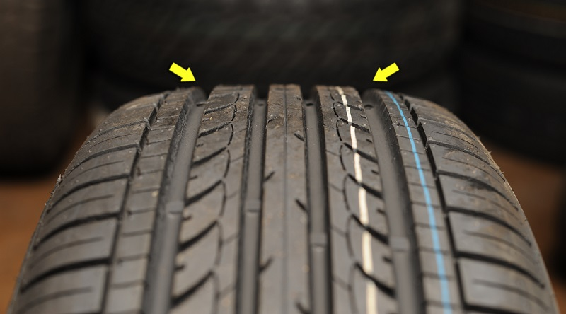The crown of the tire is repairable only. Any area outside of the middle of the tire is unrepairable and requires replacement.