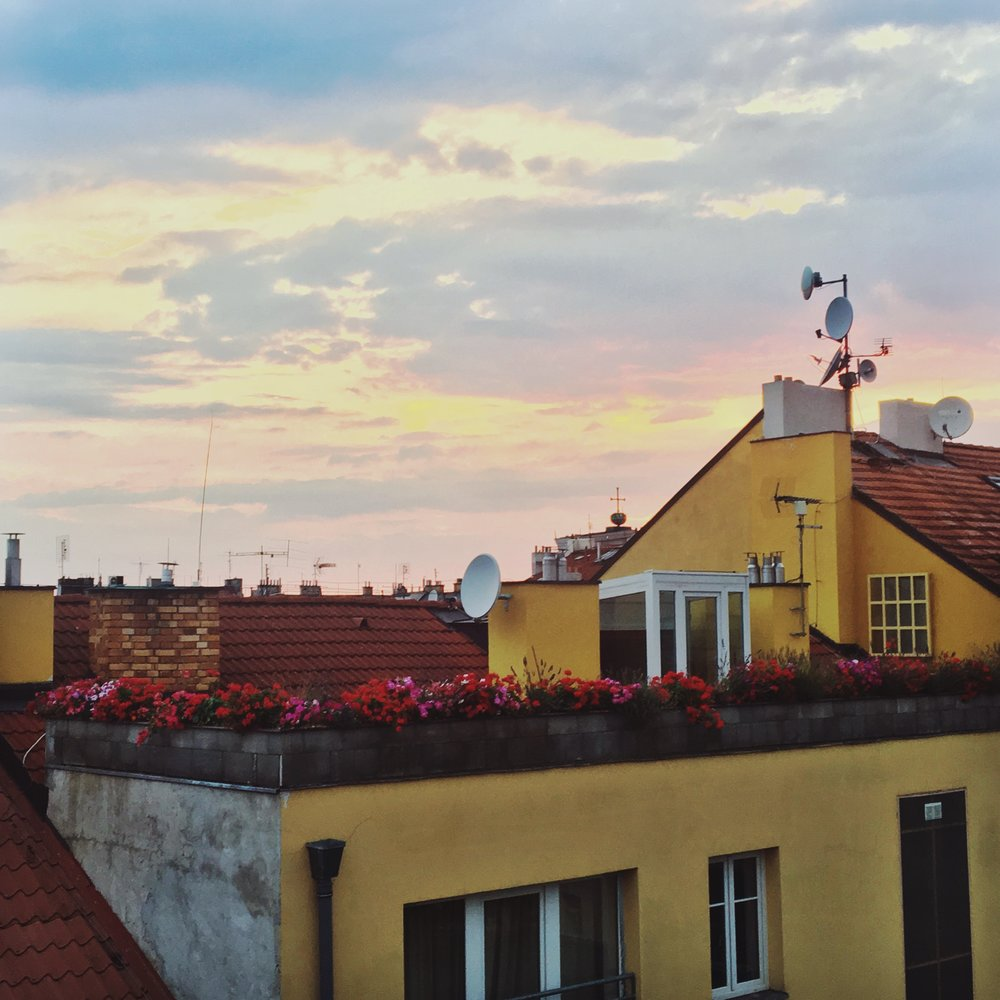 Sunset from Slezska 61   Home sweet home