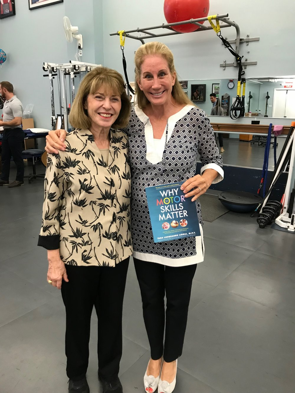 Tara with Dr. Marilyn Moffat, PT, DPT, PHD, GCS