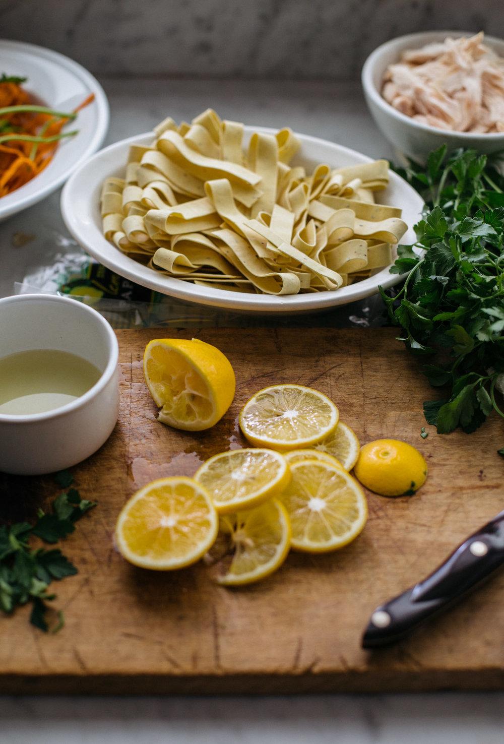 Heather Bullard | Lemon Pappardelle Chicken Soup