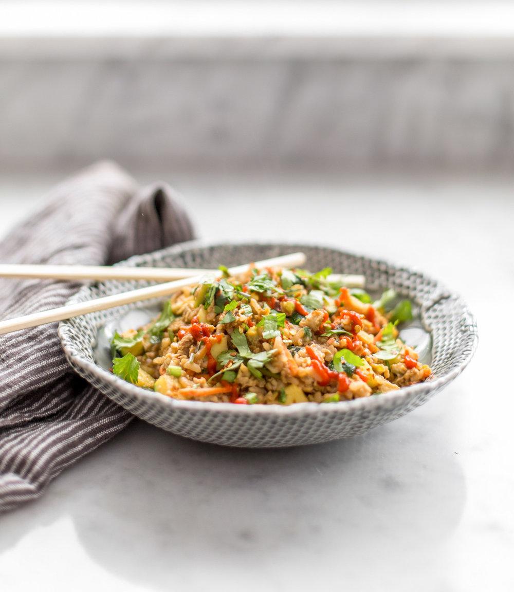 Spicy Zucchini Fried Rice | Heather Bullard