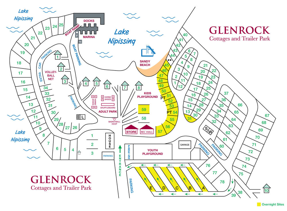 Glenrock Cottages and Trailer Park sites