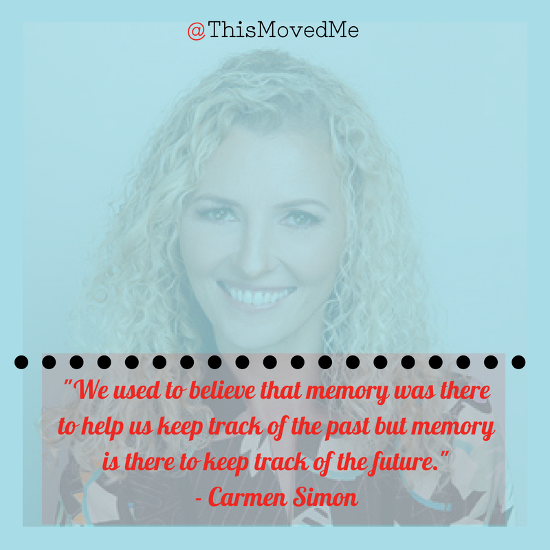 Carmen Simon and This Moved Me podcast host Sally Zimney discuss how to improve audience memory. Tips for speakers.
