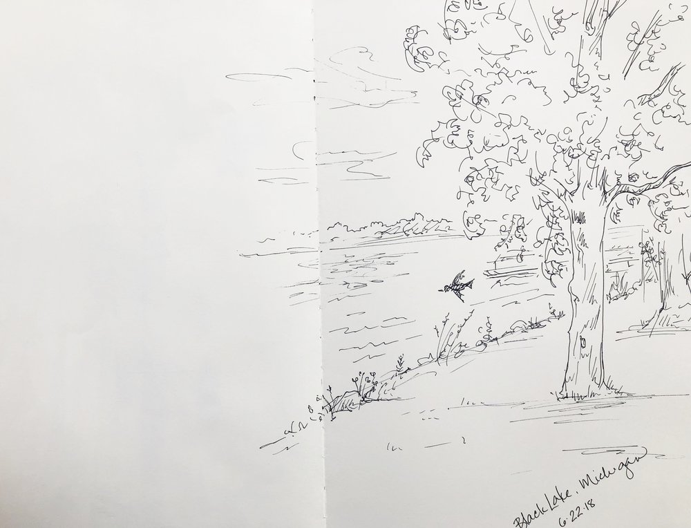 Black Lake sketch