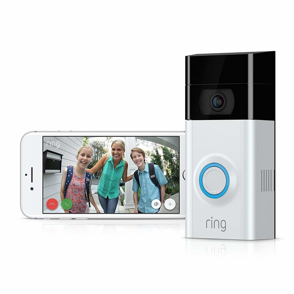 REDUCED BY £30 - Watch over your home and answer the door from your phone, tablet and PC with next-generation security from Ring Video Doorbell 2. Ring sends you alerts when anyone comes to your door, so you can see, hear and speak to visitors from anywhere. NOW ONLY £149