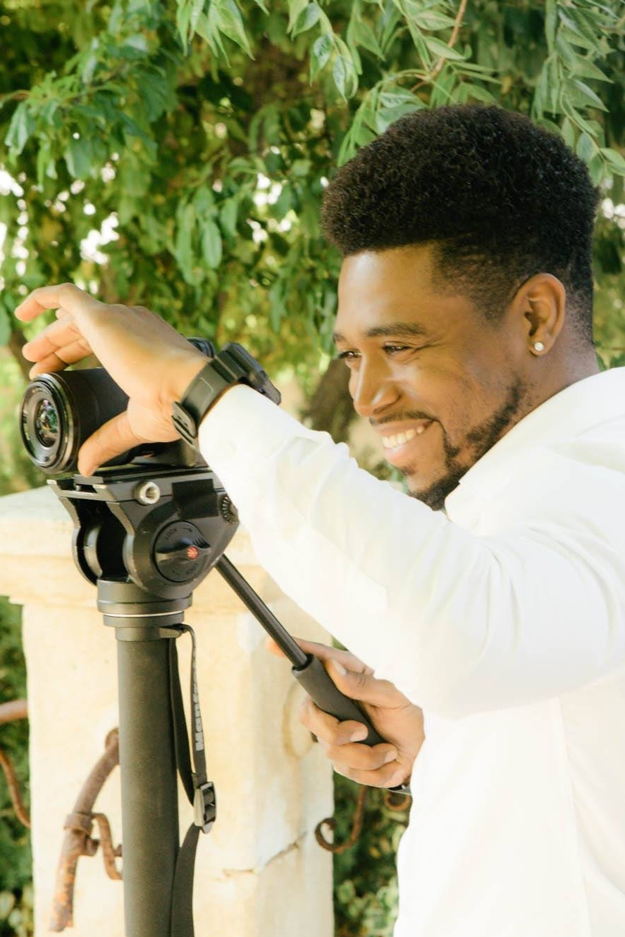 Denzel Quarterman - Camera Operator - Denzel has worked alongside Dina as a camera operator and coordinator at Juice Media for about 2 years.Under the tutelage of Dina Mande, they have produced numerous documentary, corporate, and online media style projects including the 2018 short narrative drama, Heart of Paradise, set in Paso Robles, CA.The Atlanta, Ga native enjoys producing sports and and narrative based projects and in the spring of 2014, Denzel graduated from California Polytechnic State University, San Luis Obispo (Cal Poly) with a degree in journalism and an emphasis in broadcast television.Denzel is a passionate, witty and fun-loving personality of sorts, that strives to bring a warm smile to each and every soul. Family, friendships and hard work are his keys to success and have gotten him to where he is now.