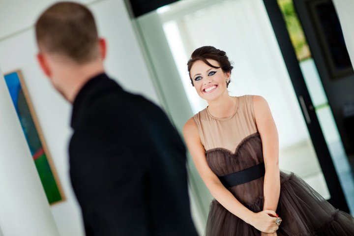 First look photo by Chrisman Studios. This one practically screams out 'how sweet it is to be loved by you!' LOVE IT!